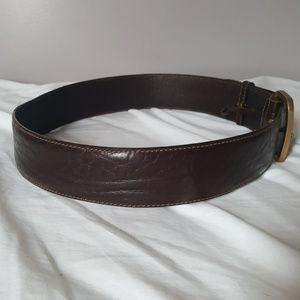 Gucci Accessories - GUCCI brown leather belt